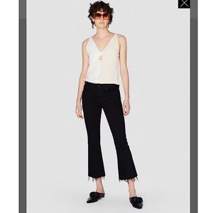 Derek Lam 10 Crosby Mid Rise Cropped Flare Jeans